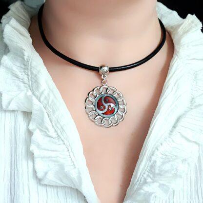 Стимпанк БДСМ украшения подвеска трискель символ трискелион эмблема ошейник