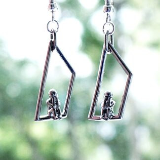 Steampunk BDSM jewelry earrings submissive dominantrix clothing