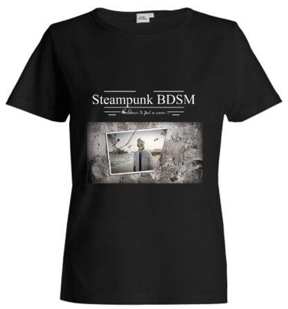 Steampunk BDSM clothing t-shirt apocalyptic cyberpunk gas mask