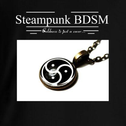 Steampunk BDSM clothing t-shirt triskele symbol triskelion emblem