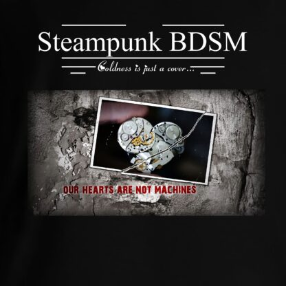 Steampunk BDSM clothing t-shirt apocalyptic cyberpunk heart