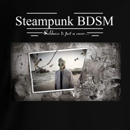 Steampunk BDSM clothing t-shirt apocalyptic cyberpunk gas mask