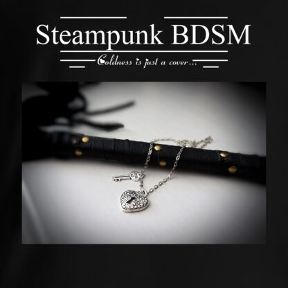 Steampunk BDSM clothing t-shirt with saying heart collar print