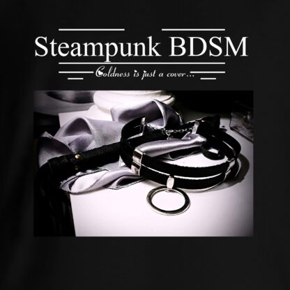 Steampunk BDSM clothing t-shirt with saying submissive collar print