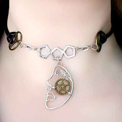Necklace subspace mistress clothing psychedelic trance pendant festival costumes