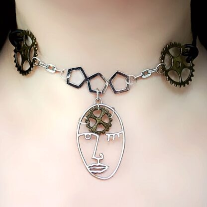 Submissive day collar dominant necklace cyberpunk mistress clothing
