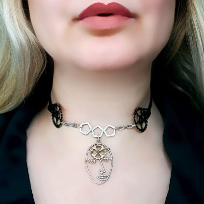 Submissive day collar dominant necklace cyberpunk mistress fetish