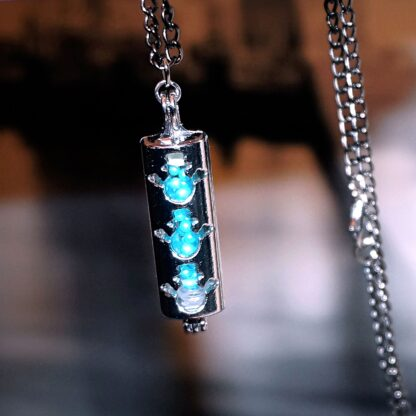 Подвеска на цепочке кулон рейв неон транс психоделика бутылка одежда для фестиваля