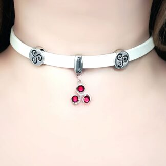 Steampunk BDSM jewelry triskele symbol submissive collar