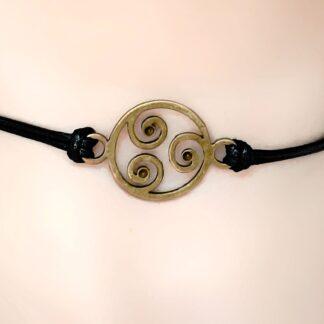Стимпанк БДСМ украшения символ трискель сабмиссив ошейник