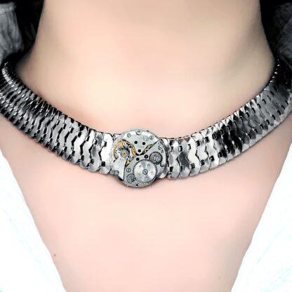 Steampunk BDSM jewelry submissive day collar metal choker necklace