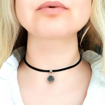 Steampunk BDSM jewelry submissive day collar charm leather necklace