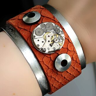 Steampunk BDSM jewelry dominant bracelet burning man clothing
