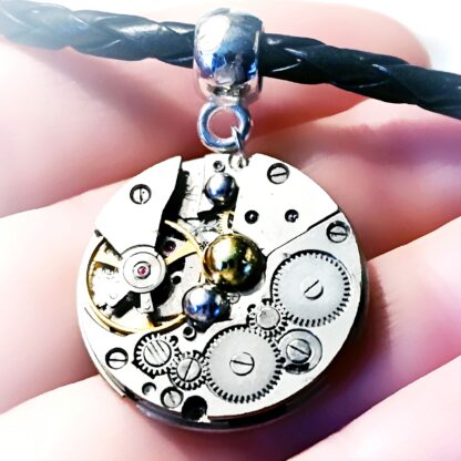 Burning man clothing dominant leather fetish cyberpunk industrial watch pendant