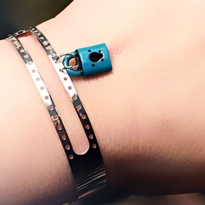 Steampunk BDSM jewelry lock bracelet cuff submissive slave dominant