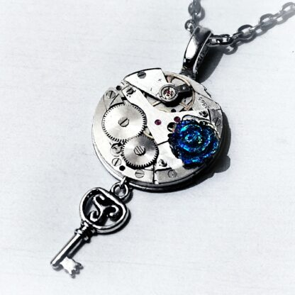 Steampunk BDSM jewelry submissive day collar rose flower necklace triskele