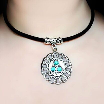 Steampunk BDSM jewelry submissive day collar triskele necklace