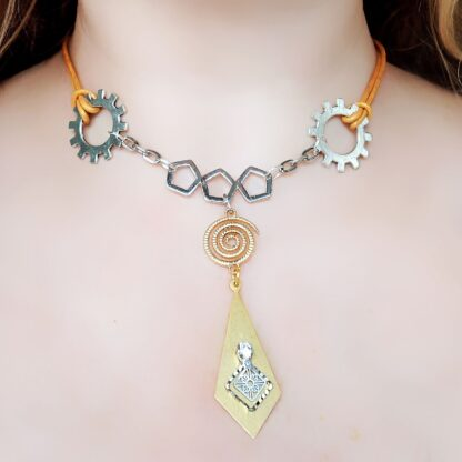 Steampunk BDSM jewelry submissive day collar dominant necklace