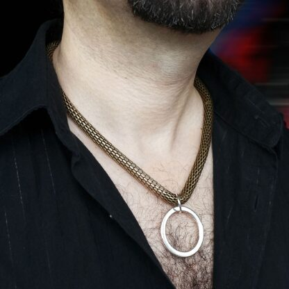 Steampunk BDSM jewelry submissive mens collar chain necklace