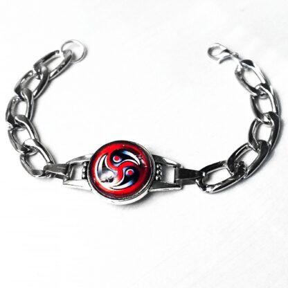Стимпанк БДСМ украшения символ трискель трискелион браслет на цепи