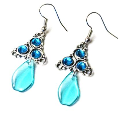 Steampunk BDSM jewelry symbol triskele emblem earrings Marrakesh