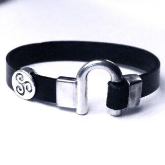 Стимпанк БДСМ украшения трискель символ кожаный браслет