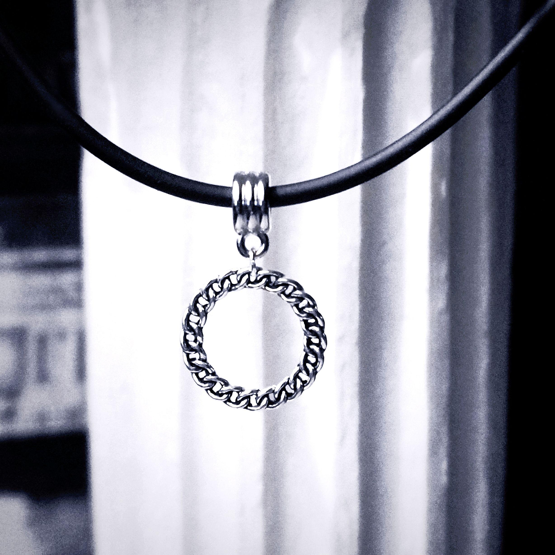 Bdsm Gear for Women Submissive O Ring Slave Collar w Leash Steampunk Postapocalyptic Lariat FORBIDDEN Gunmetal Gunmetal Chain Necklace