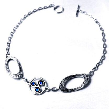 Steampunk BDSM jewelry symbol triskele day collar metal necklace