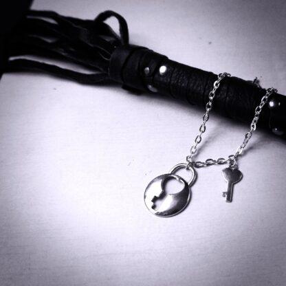 Steampunk BDSM jewelry lock bracelet cuff submissive slave