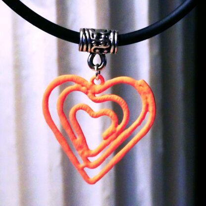 Steampunk BDSM jewelry submissive day collar heart pendant