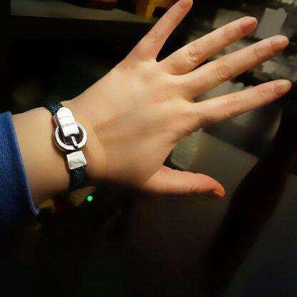 Стимпанк БДСМ украшения браслет кожаный на магнитном замке