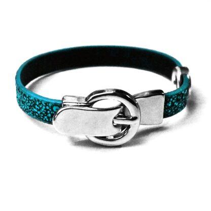 Steampunk BDSM jewelry submissive dominatrix leather lock bracelet