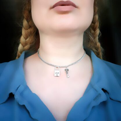 Steampunk BDSM jewelry submissive day collar
