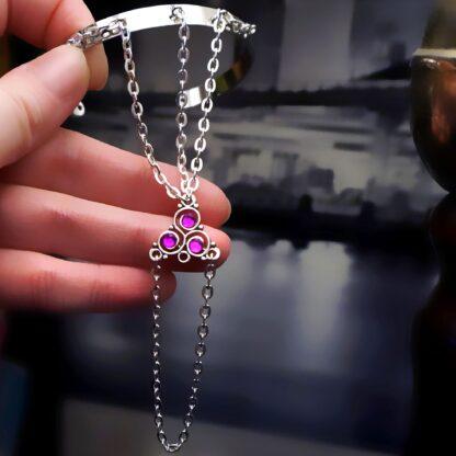 Стимпанк БДСМ украшения браслет с трискелем трискель символ