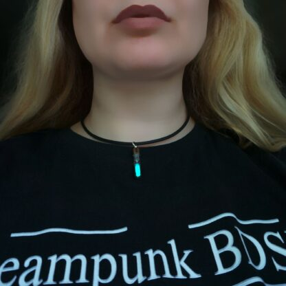 Submissive day collar trippy acid neon necklace
