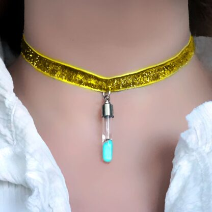 Submissive day collar neon necklace rave psychedelic trance