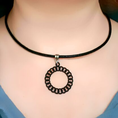 Steampunk BDSM jewelry submissive day collar necklace o ring leather choker