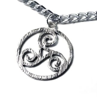 Steampunk BDSM jewelry submissive day collar triskele symbol