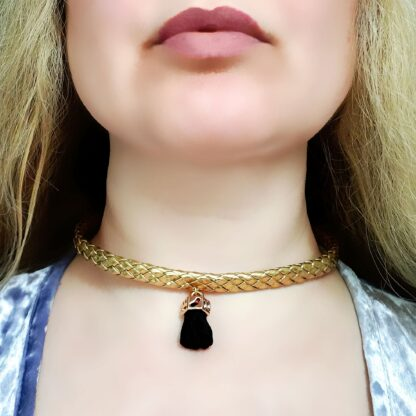 Submissive day collar Steampunk BDSM jewelry necklace