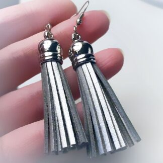 Steampunk BDSM jewelry fringe earrings submissive domina clothing