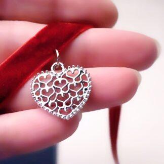 Стимпанк БДСМ украшения чокер велюровый подвеска с сердцем