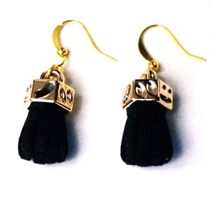 Steampunk BDSM jewelry fringe earrings bondage