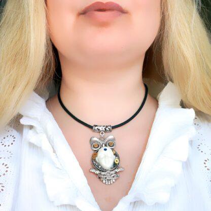 Стимпанк БДСМ украшение киберпанк сова ожерелье психоделический транс