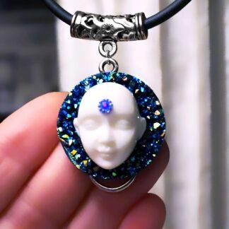 Стимпанк БДСМ украшение киберпанк ожерелье психоделический транс Будда подвеска