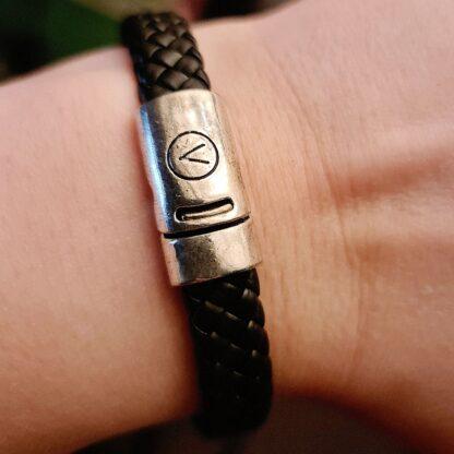 Стимпанк БДСМ украшения браслет мужской кожаный с магнитным замком