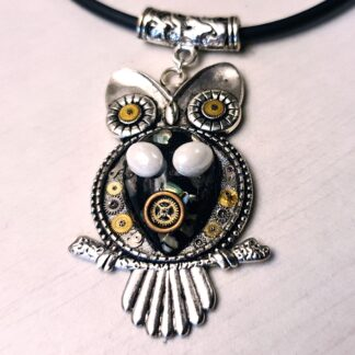 Steampunk BDSM jewelry submissive day collar slave cyberpunk owl