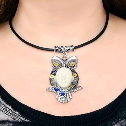 Стимпанк БДСМ украшение киберпанк ожерелье сова
