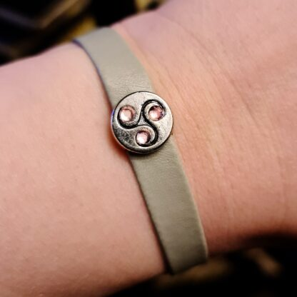 Steampunk BDSM jewelry symbol triskele bracelet cuff submissive dominant