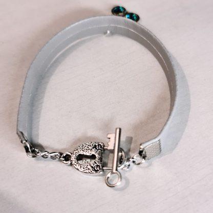 Steampunk BDSM jewelry symbol triskele bracelet