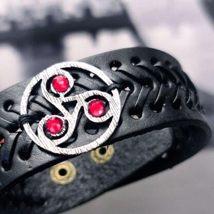 Стимпанк БДСМ украшения кожаный браслет символ трискель